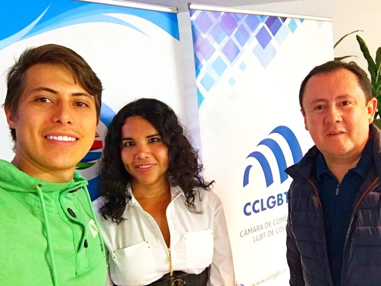 Meeting between the LGBT Chamber of Commerce and Business of Ecuador Diane Rodríguez and the Chamber of LGBT Merchants of Colombia