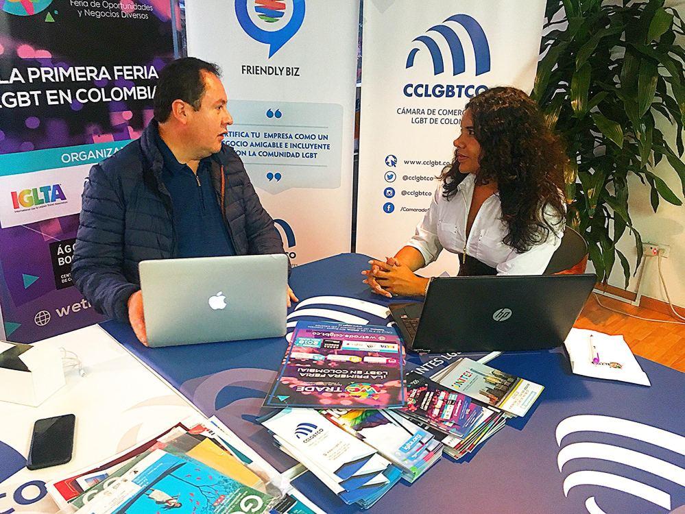 Reunión entre la Cámara de Comercio y Negocios LGBT de Ecuador Diane Rodríguez y la Camara de Comerciantes LGBT de Colombia