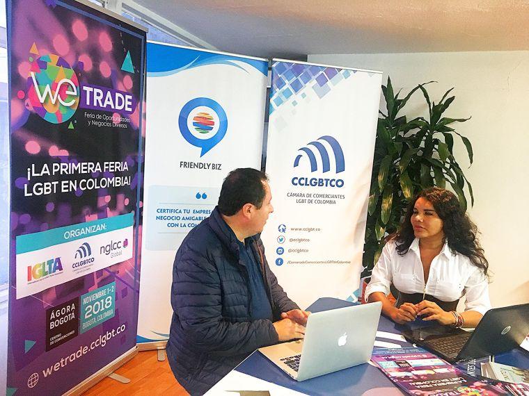 Reunión entre la Cámara de Comercio y Negocios LGBT de Ecuador y la Camara de Comerciantes LGBT de Colombia bogotá