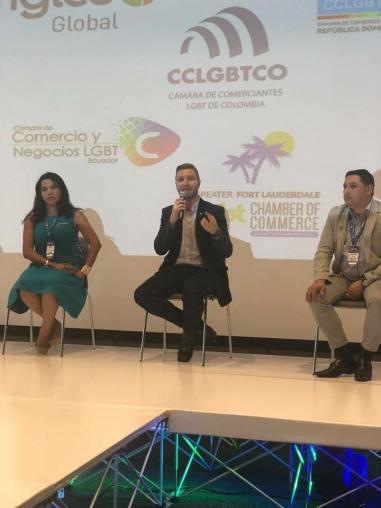 Participación de la Camara LGBT de Comercio y Turismo Ecuador en We Tride de camara de comerciantes colombia (2)