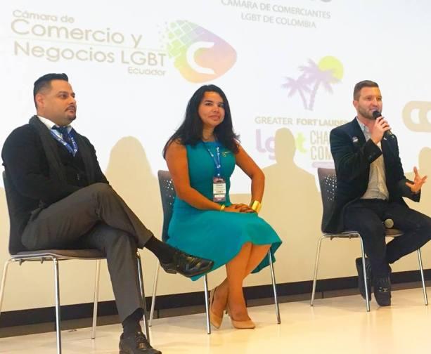 Participación de la Camara LGBT de Comercio y Turismo Ecuador en We Tride de camara de comerciantes colombia Diane Rodriguez (4)