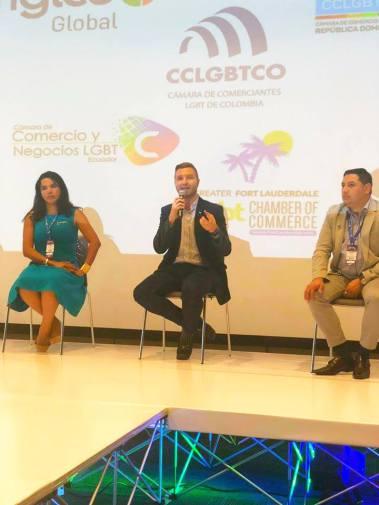 Participación de la Camara LGBT de Comercio y Turismo Ecuador en We Tride de camara de comerciantes colombia Diane Rodriguez (5)