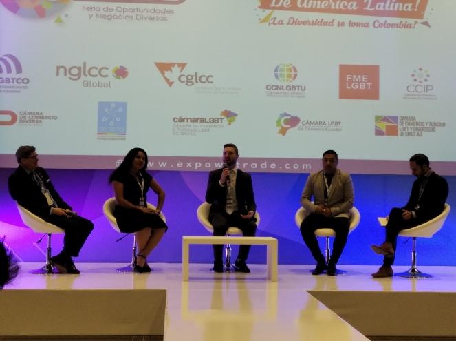 Cámara LGBT de comercio Ecuador en el We Trade Feria de oportunidades en Bogota Colombia - Diane Rodríguez Zambrano - CEO (1)