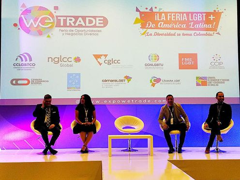 Cámara LGBT de comercio Ecuador en el We Trade Feria de oportunidades en Bogota Colombia - Diane Rodríguez Zambrano - CEO conferencista (3)