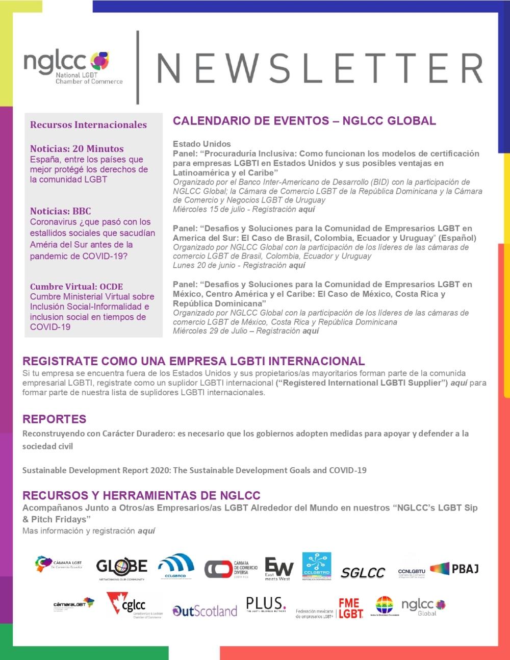 Global Newsletter NGLCC - Cámara LGBT Ecuador